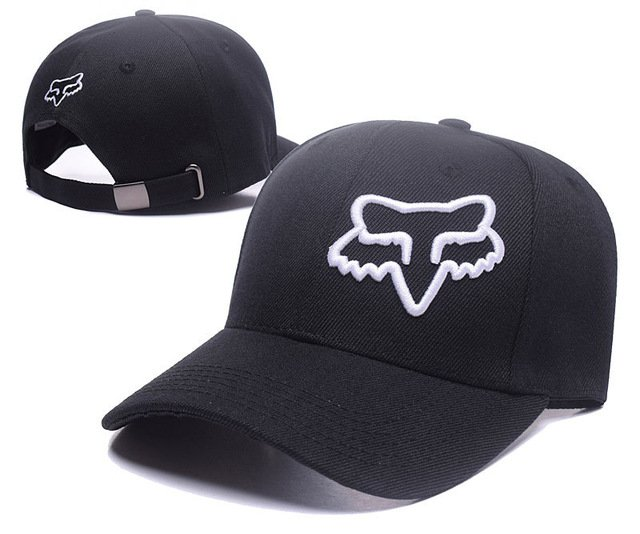 RUNMEIFA New Racing Cap Solid Color Fox Pattern Print Canvas Cap For Adult Outdoor Sports Adjustable Basketball Hat Casquette 17
