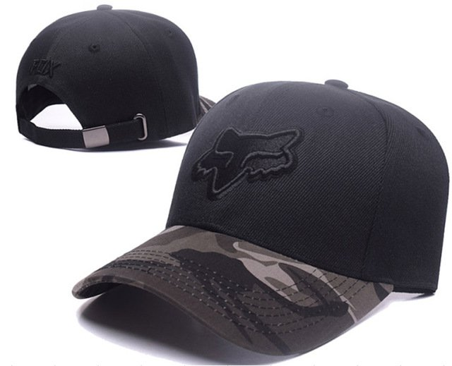 RUNMEIFA New Racing Cap Solid Color Fox Pattern Print Canvas Cap For Adult Outdoor Sports Adjustable Basketball Hat Casquette 55