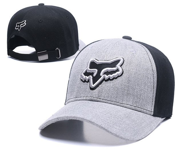 RUNMEIFA New Racing Cap Solid Color Fox Pattern Print Canvas Cap For Adult Outdoor Sports Adjustable Basketball Hat Casquette 57