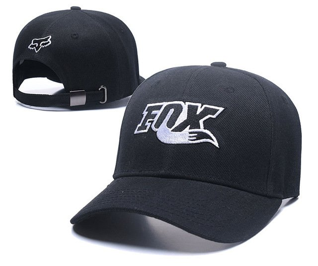 RUNMEIFA New Racing Cap Solid Color Fox Pattern Print Canvas Cap For Adult Outdoor Sports Adjustable Basketball Hat Casquette 67