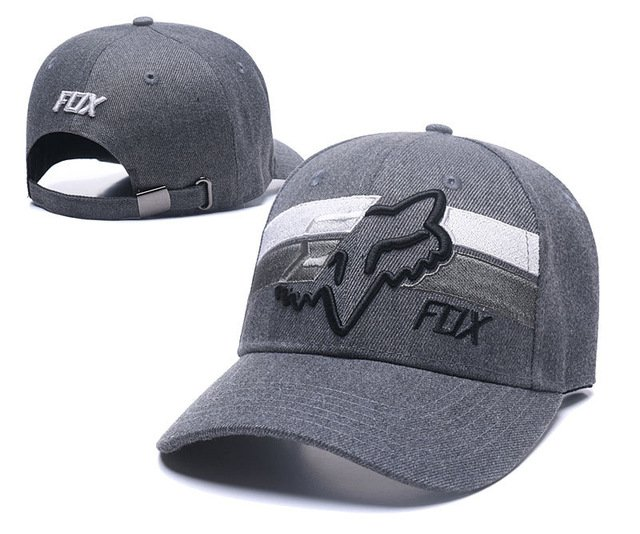 RUNMEIFA New Racing Cap Solid Color Fox Pattern Print Canvas Cap For Adult Outdoor Sports Adjustable Basketball Hat Casquette 69