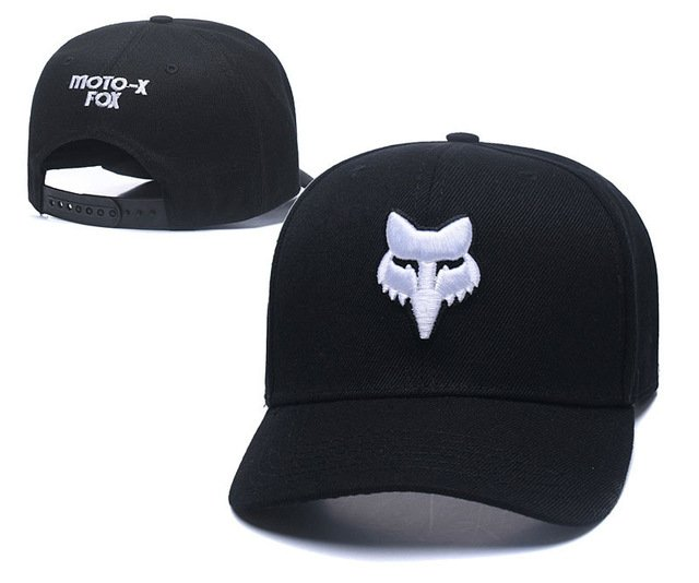 RUNMEIFA New Racing Cap Solid Color Fox Pattern Print Canvas Cap For Adult Outdoor Sports Adjustable Basketball Hat Casquette 71