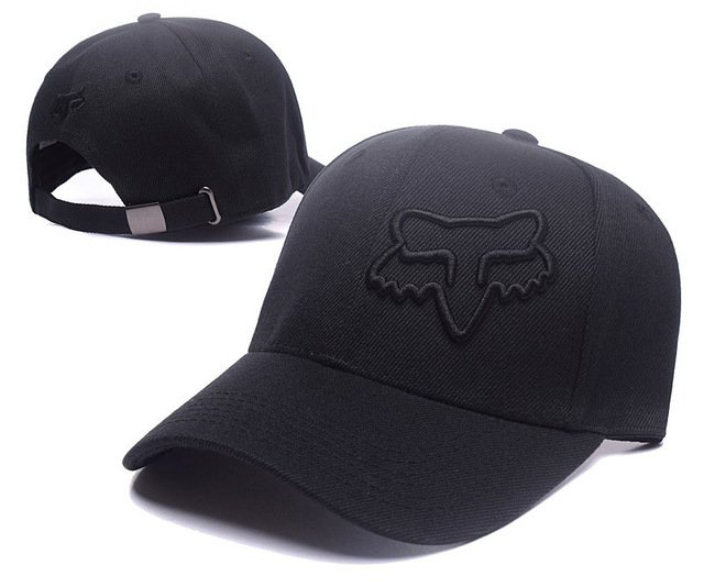 RUNMEIFA New Racing Cap Solid Color Fox Pattern Print Canvas Cap For Adult Outdoor Sports Adjustable Basketball Hat Casquette 19