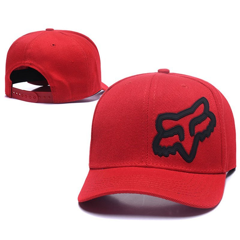 RUNMEIFA New Racing Cap Solid Color Fox Pattern Print Canvas Cap For Adult Outdoor Sports Adjustable Basketball Hat Casquette 9
