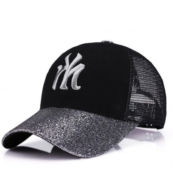 New Branded Baseball Caps Canada Women's Cap With Mesh Bone Hip Hop Lady Embroidery Hats Sequins RC1134 16