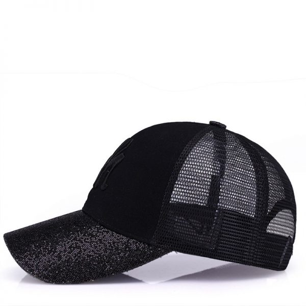 New Branded Baseball Caps Canada Women's Cap With Mesh Bone Hip Hop Lady Embroidery Hats Sequins RC1134 6