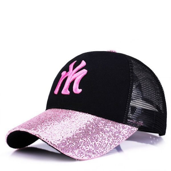 New Branded Baseball Caps Canada Women's Cap With Mesh Bone Hip Hop Lady Embroidery Hats Sequins RC1134 18