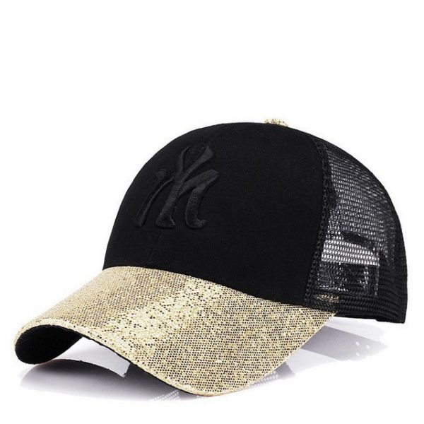 New Branded Baseball Caps Canada Women's Cap With Mesh Bone Hip Hop Lady Embroidery Hats Sequins RC1134 20