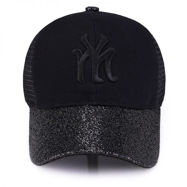 New Branded Baseball Caps Canada Women's Cap With Mesh Bone Hip Hop Lady Embroidery Hats Sequins RC1134 10