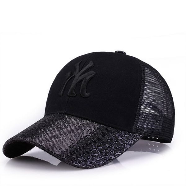 New Branded Baseball Caps Canada Women's Cap With Mesh Bone Hip Hop Lady Embroidery Hats Sequins RC1134 14