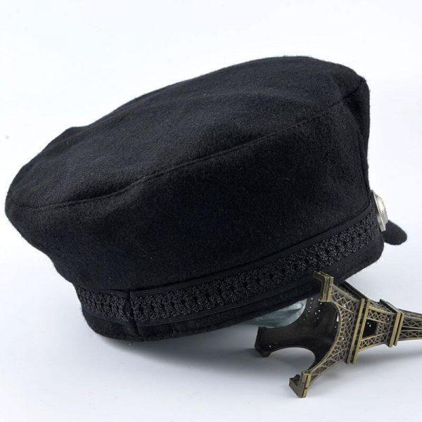 SUOGRY Winter Hats For Women Men Octagonal Cap Wool Button Baseball Caps Sun Visor Hat Gorras Casquette Touca Black Casual 6