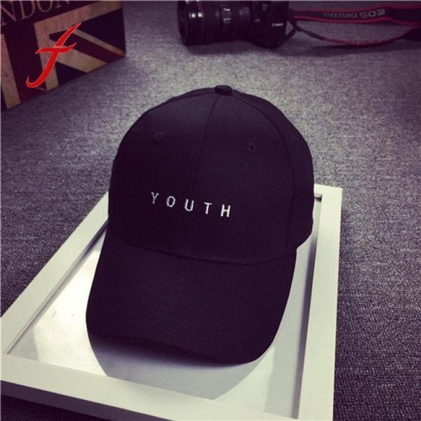 Brand New Cotton Mens Hat Youth Letter Print Unisex Women Men Hats Baseball Cap Snapback Casual Caps 8