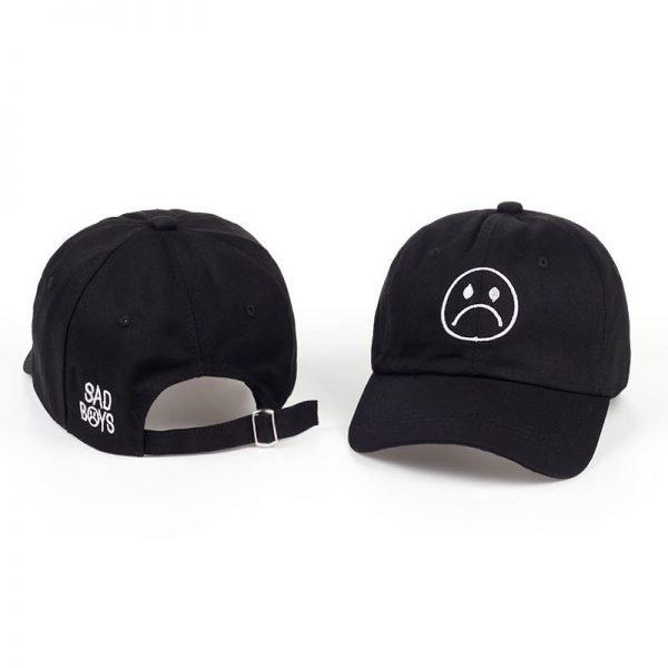 TUNICA Sad Boys Adjustable Hat crying face Baseball cap Hip hop Headwear Black Harajuku Skateboard Hats Curve Brimmed golf Caps 4