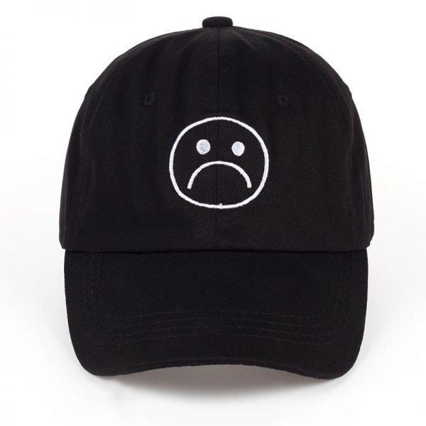 TUNICA Sad Boys Adjustable Hat crying face Baseball cap Hip hop Headwear Black Harajuku Skateboard Hats Curve Brimmed golf Caps 6