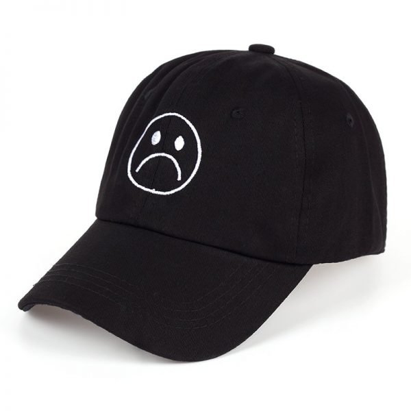 TUNICA Sad Boys Adjustable Hat crying face Baseball cap Hip hop Headwear Black Harajuku Skateboard Hats Curve Brimmed golf Caps 8