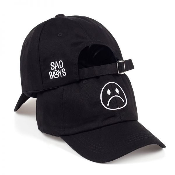 TUNICA Sad Boys Adjustable Hat crying face Baseball cap Hip hop Headwear Black Harajuku Skateboard Hats Curve Brimmed golf Caps 2
