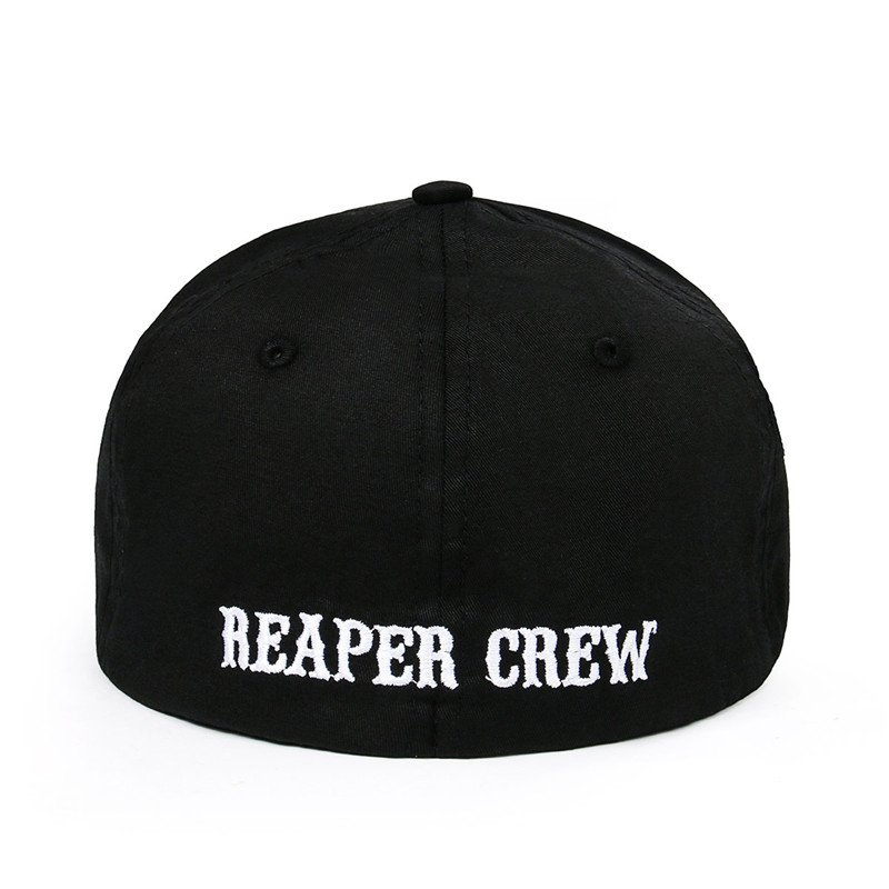 Takerlama SOA Sons of Anarchy for Reaper Crew Fitted Baseball Cap Hat Embroidered Hat Black 5