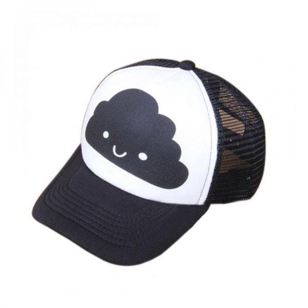 Toddler Baby Black and White Baseball Cap Kids Cute  Ear  Summer Mesh Sun Hat  Child  Boys and Girls Trucker Flat Caps 4