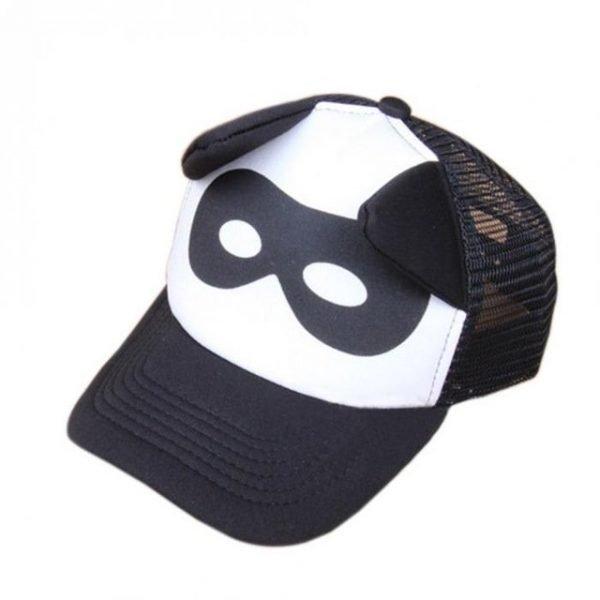 Toddler Baby Black and White Baseball Cap Kids Cute  Ear  Summer Mesh Sun Hat  Child  Boys and Girls Trucker Flat Caps 18