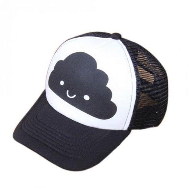 Toddler Baby Black and White Baseball Cap Kids Cute  Ear  Summer Mesh Sun Hat  Child  Boys and Girls Trucker Flat Caps 14