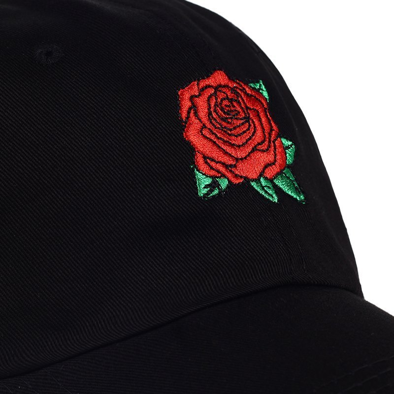 Dad hat New Hot Fashion Roses Men Women Baseball Caps Spring Summer Sun Hats for Women Solid Snapback Cap Wholesale