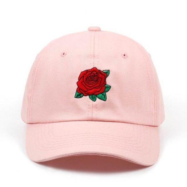 New Hot Fashion Roses Men Women Baseball Caps Spring Summer Sun Hats for Women Solid Snapback Cap Wholesale Dad Hat 9