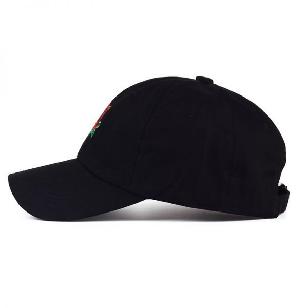 New Hot Fashion Roses Men Women Baseball Caps Spring Summer Sun Hats for Women Solid Snapback Cap Wholesale Dad Hat 8
