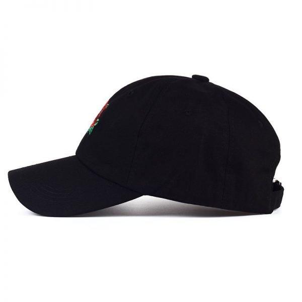 New Hot Fashion Roses Men Women Baseball Caps Spring Summer Sun Hats for Women Solid Snapback Cap Wholesale Dad Hat 4