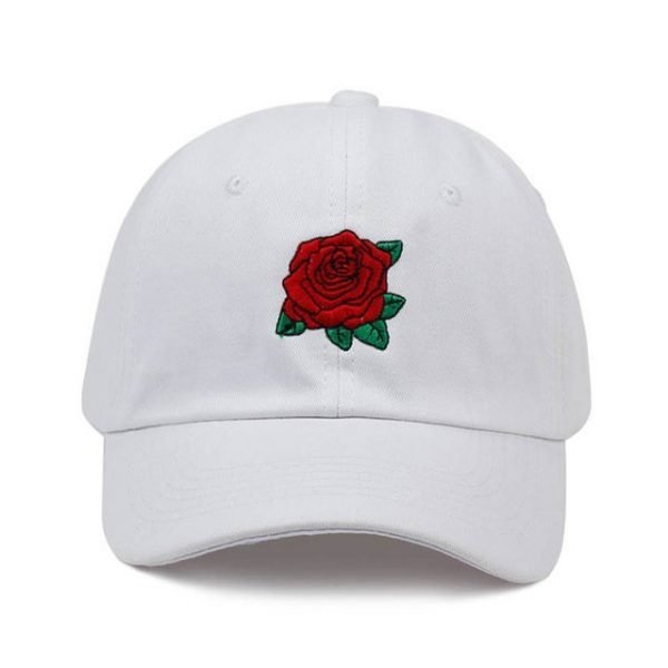 New Hot Fashion Roses Men Women Baseball Caps Spring Summer Sun Hats for Women Solid Snapback Cap Wholesale Dad Hat 14