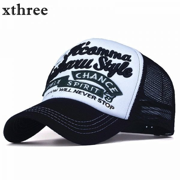 Xthree New 5 panels embroidery summer baseball cap casual mush cap men snapback hat for women casquette gorras 2