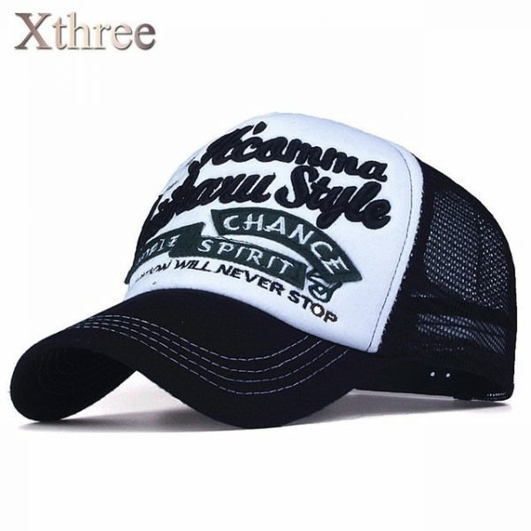 Xthree New 5 panels embroidery summer baseball cap casual mush cap men snapback hat for women casquette gorras 14