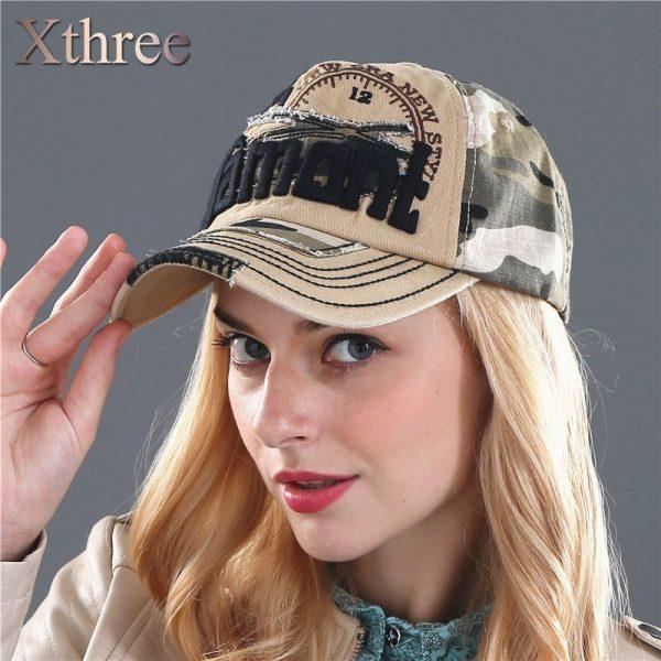 Xthree unisex camouflage baseball cap swag cap Casual Outdoor Sport snapback Hat for men Cap women gorra  casquette Wholesale 8