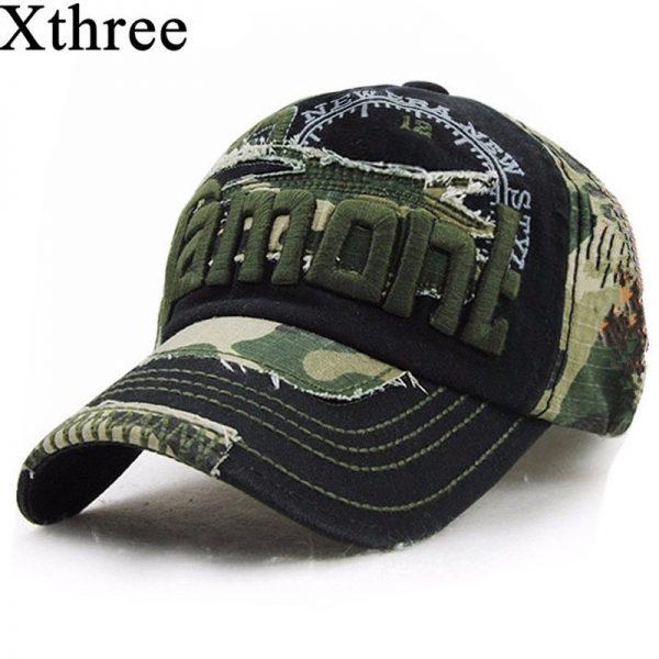 Xthree unisex camouflage baseball cap swag cap Casual Outdoor Sport snapback Hat for men Cap women gorra  casquette Wholesale 2