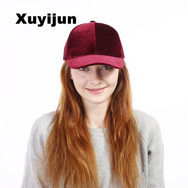 Xuyijun Baseball Caps with no embroidery strap Simple Suede back cap and hat for men and women's hat on white 6 colors 2