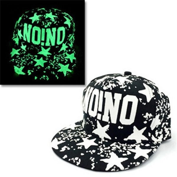 green Glow Dark Snapback Caps little stars Hip Hop Fluorescent Baseball Cap Casual Luminous Caps Fitted Hats for Women Men 302 16