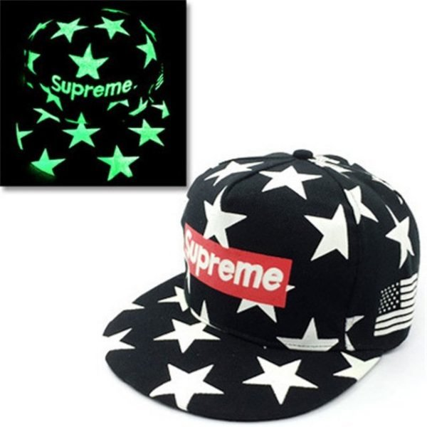 green Glow Dark Snapback Caps little stars Hip Hop Fluorescent Baseball Cap Casual Luminous Caps Fitted Hats for Women Men 302 34