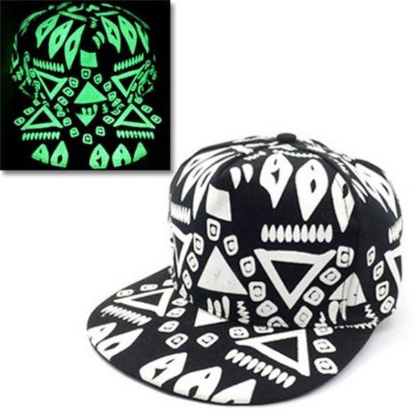 green Glow Dark Snapback Caps little stars Hip Hop Fluorescent Baseball Cap Casual Luminous Caps Fitted Hats for Women Men 302 36