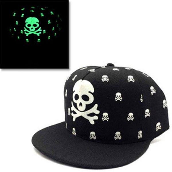 green Glow Dark Snapback Caps little stars Hip Hop Fluorescent Baseball Cap Casual Luminous Caps Fitted Hats for Women Men 302 38