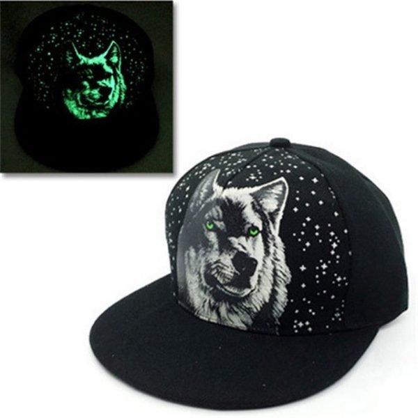 green Glow Dark Snapback Caps little stars Hip Hop Fluorescent Baseball Cap Casual Luminous Caps Fitted Hats for Women Men 302 40