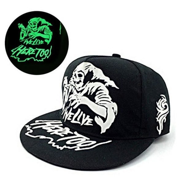 green Glow Dark Snapback Caps little stars Hip Hop Fluorescent Baseball Cap Casual Luminous Caps Fitted Hats for Women Men 302 42