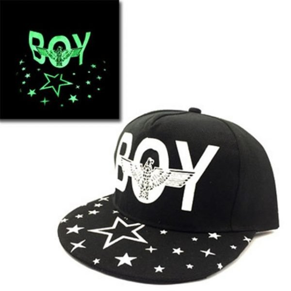 green Glow Dark Snapback Caps little stars Hip Hop Fluorescent Baseball Cap Casual Luminous Caps Fitted Hats for Women Men 302 46