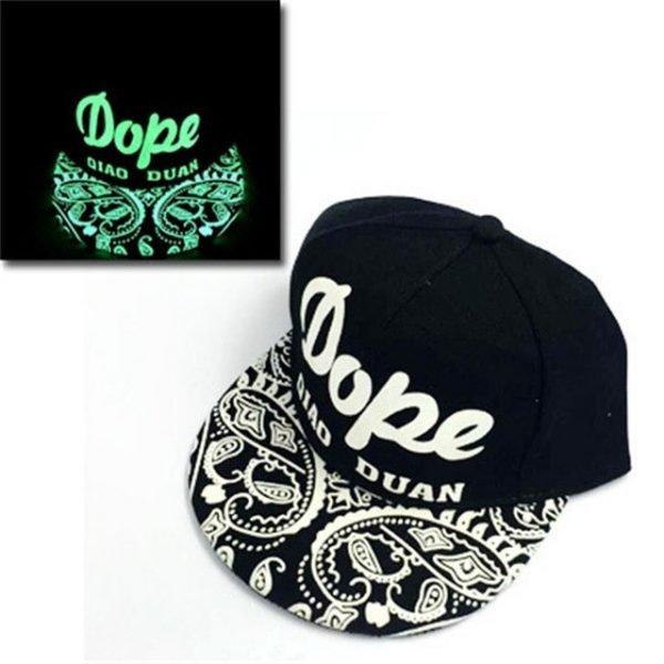 green Glow Dark Snapback Caps little stars Hip Hop Fluorescent Baseball Cap Casual Luminous Caps Fitted Hats for Women Men 302 48