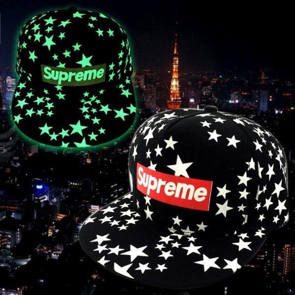 green Glow Dark Snapback Caps little stars Hip Hop Fluorescent Baseball Cap Casual Luminous Caps Fitted Hats for Women Men 302 8