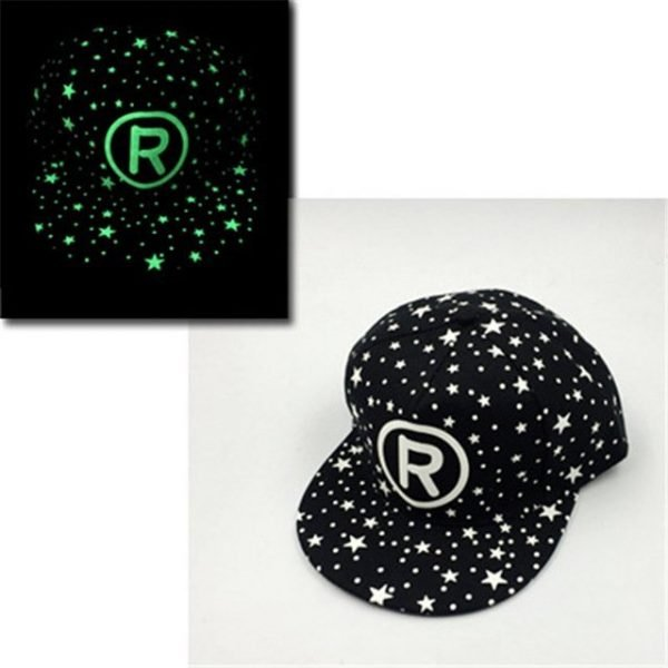 green Glow Dark Snapback Caps little stars Hip Hop Fluorescent Baseball Cap Casual Luminous Caps Fitted Hats for Women Men 302 20