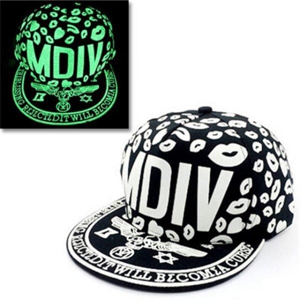 green Glow Dark Snapback Caps little stars Hip Hop Fluorescent Baseball Cap Casual Luminous Caps Fitted Hats for Women Men 302 24