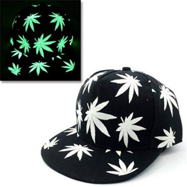 green Glow Dark Snapback Caps little stars Hip Hop Fluorescent Baseball Cap Casual Luminous Caps Fitted Hats for Women Men 302 26
