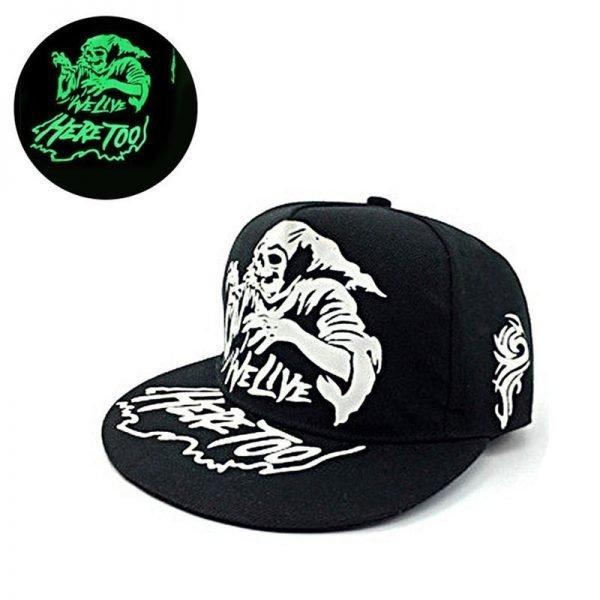 green Glow Dark Snapback Caps little stars Hip Hop Fluorescent Baseball Cap Casual Luminous Caps Fitted Hats for Women Men 302 2