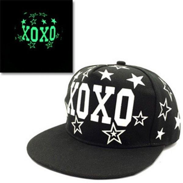 green Glow Dark Snapback Caps little stars Hip Hop Fluorescent Baseball Cap Casual Luminous Caps Fitted Hats for Women Men 302 32