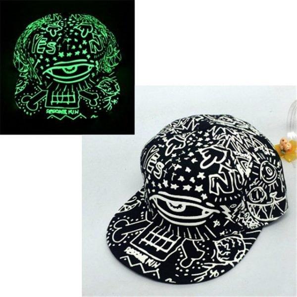 green Glow Dark Snapback Caps little stars Hip Hop Fluorescent Baseball Cap Casual Luminous Caps Fitted Hats for Women Men 302 14