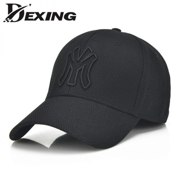 solid unisex black baseball cap men snapback hat  women cap flexfit fitted hat Closed  Male full cap  Gorras Bones trucker hat 2